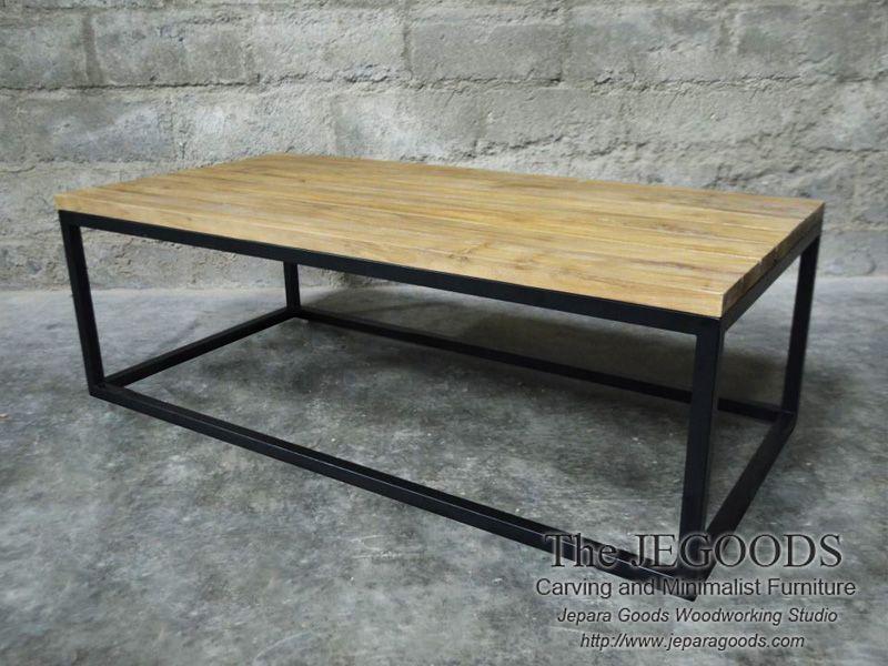 Meja Kayu Besi Industrial Furniture Rustic Jepara Goods Indonesia