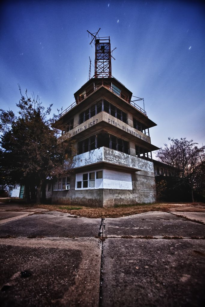 Control Tower From Old Naval Air Base In Hutchinson KS By Dpinkston