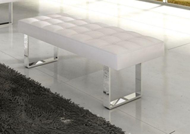 Moderne Hocker moderne zitmeubelen murano hocker wit 120x45x48cm slaapkamer