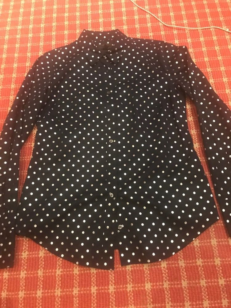 fd4002f3d67 NWOT J CREW BLACK BUTTON DOWN PERFECT SHIRT BLOUSE - WITH SILVER DOTS -  SIZE 4  fashion  clothing  shoes  accessories  womensclothing  tops (ebay  link)