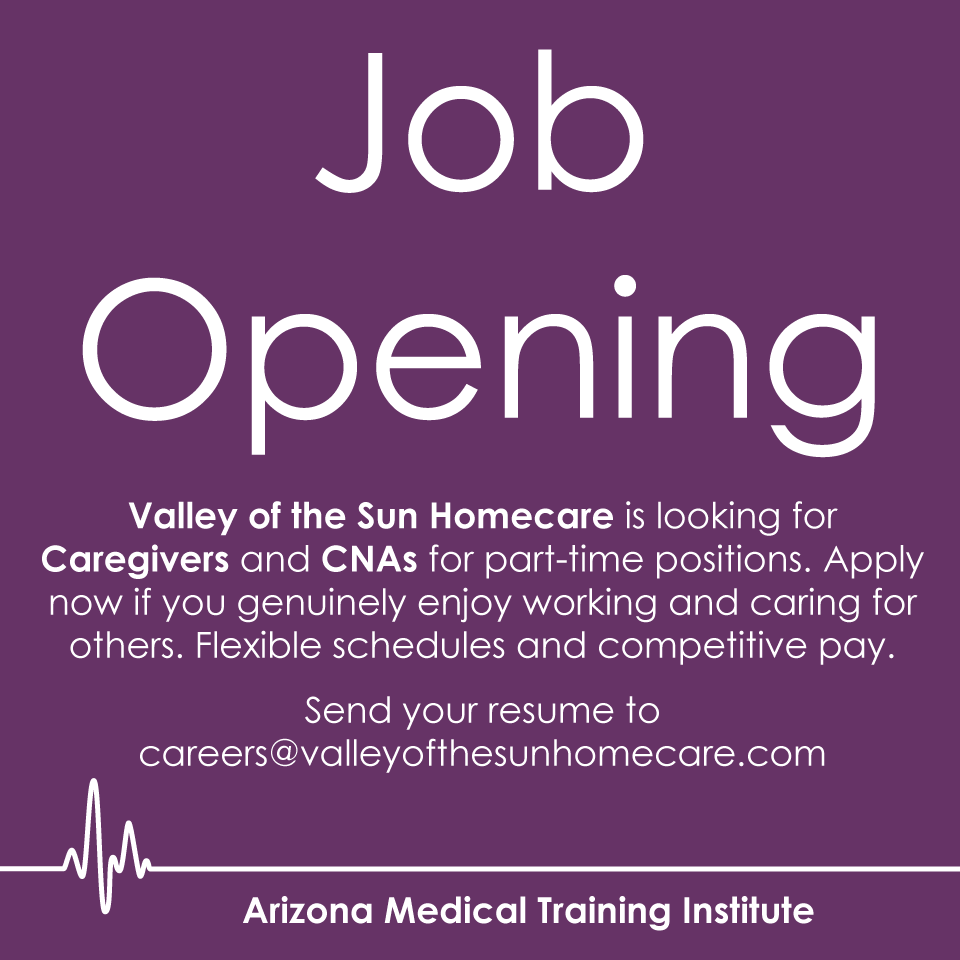 Valley of the Sun Homecare is looking for Caregivers and