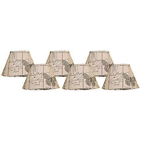 Set of Six Chandelier Shades 6