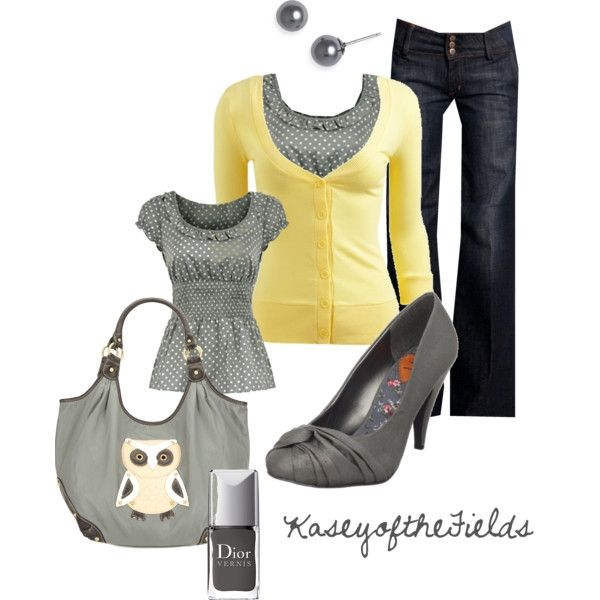 Owl Say (3/4 Rib Cardigan - Teen Clothing by Wet Seal $18). I have everything but the lemony cardi and owl bag!