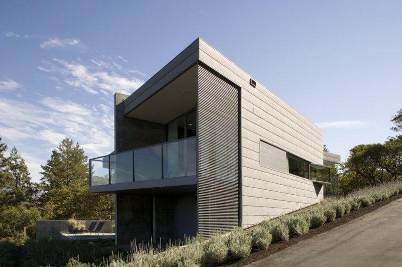 Maison contemporaine de verre et béton au coeur de la vallée Dry