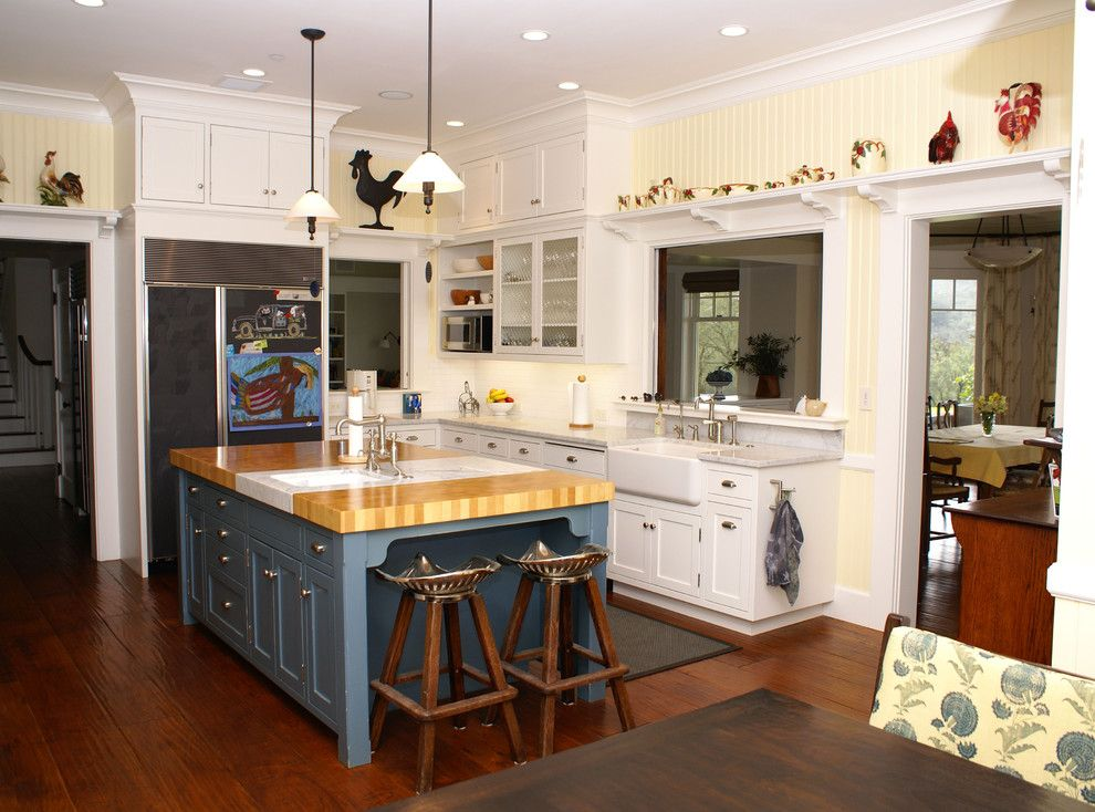 Good Looking Butcher Block Kitchen Island In Kitchen