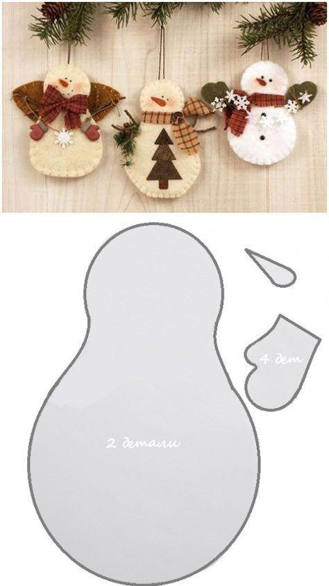 Moldes De Navidad Para Hacer Figuras En Fieltro Moldes De Navidad Gratis Moldes De Navidad En Fiel Felt Crafts Christmas Felt Christmas Ornaments Xmas Crafts