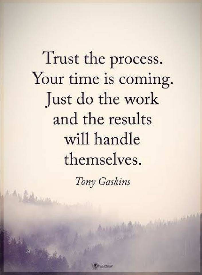 Quotes Trust The Process Your Time Is Coming Just Do The Work And The Results Will Handle Themselves Patience Quotes Inspiring Quotes About Life Life Quotes