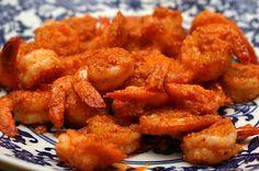 Buffalo Shrimp--would be awesome for the Super Bowl. #buffaloshrimp