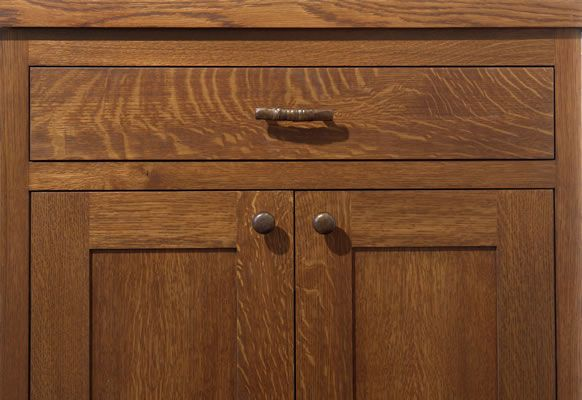 Quartersawn White Oak Cabinets Quarter Sawn Media Cabinet Detail
