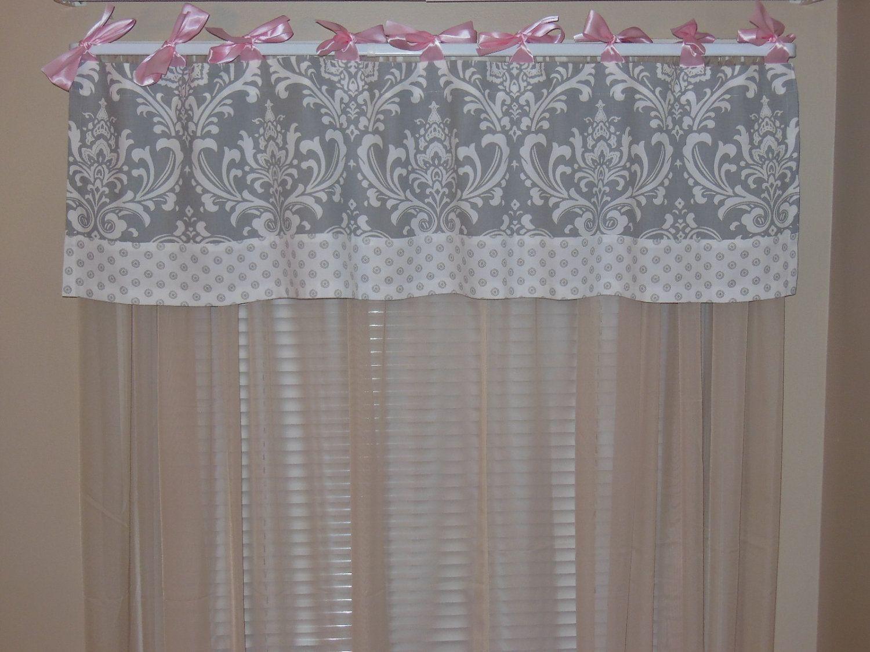 Custom Crib Bedding Set Gray Damask Pink Reserved For