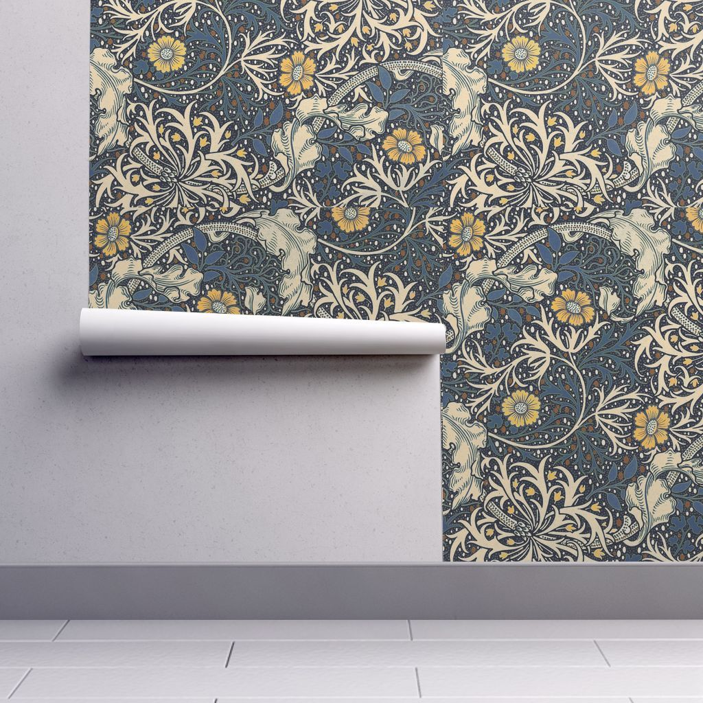 Isobar Durable Wallpaper featuring William Morris Seaweed by neilepi | Roostery Home Decor ...