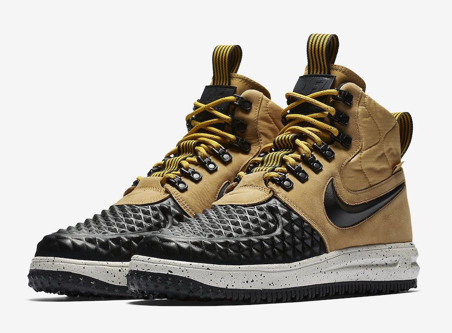 image result for air lunar force 1 duckboot yellow black sneakers rh pinterest com