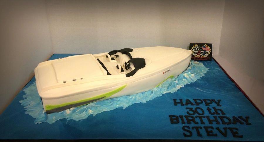 Speed Boat 30th Birthday Cake Easyboybirthdaycakes 30 Birthday