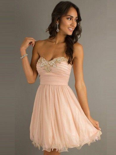 39f4d3fdf Corte de baile escote corazón corto mini vestido - Missydress.es ...