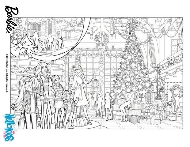 Barbie In A Perfect Christmas Coloring Pages Barbie S Christmas Tree Christmas Barbie Christmas Coloring Pages Christmas Tree Coloring Page