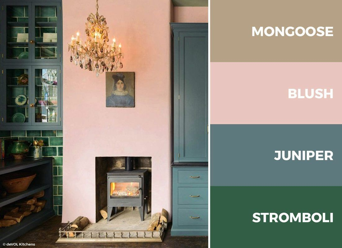 wonderful pink green living room color schemes | A pink, blue and green kitchen color scheme is bold, fun ...