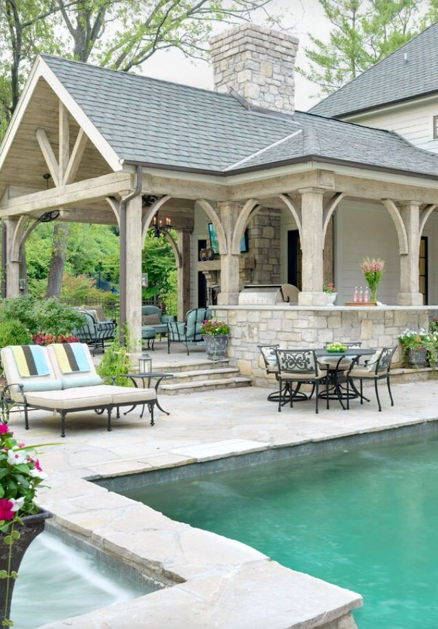 Vaulted Covered Patio On Guest House