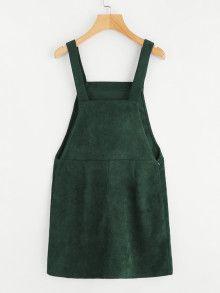 966455faa4 Shop Bib Pocket Front Overall Dress EmmaCloth-Women Fast Fashion Online