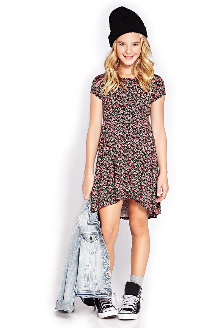 Micro-Floral Dress (Kids) | FOREVER21 girls - 2000126601 | fashion ...