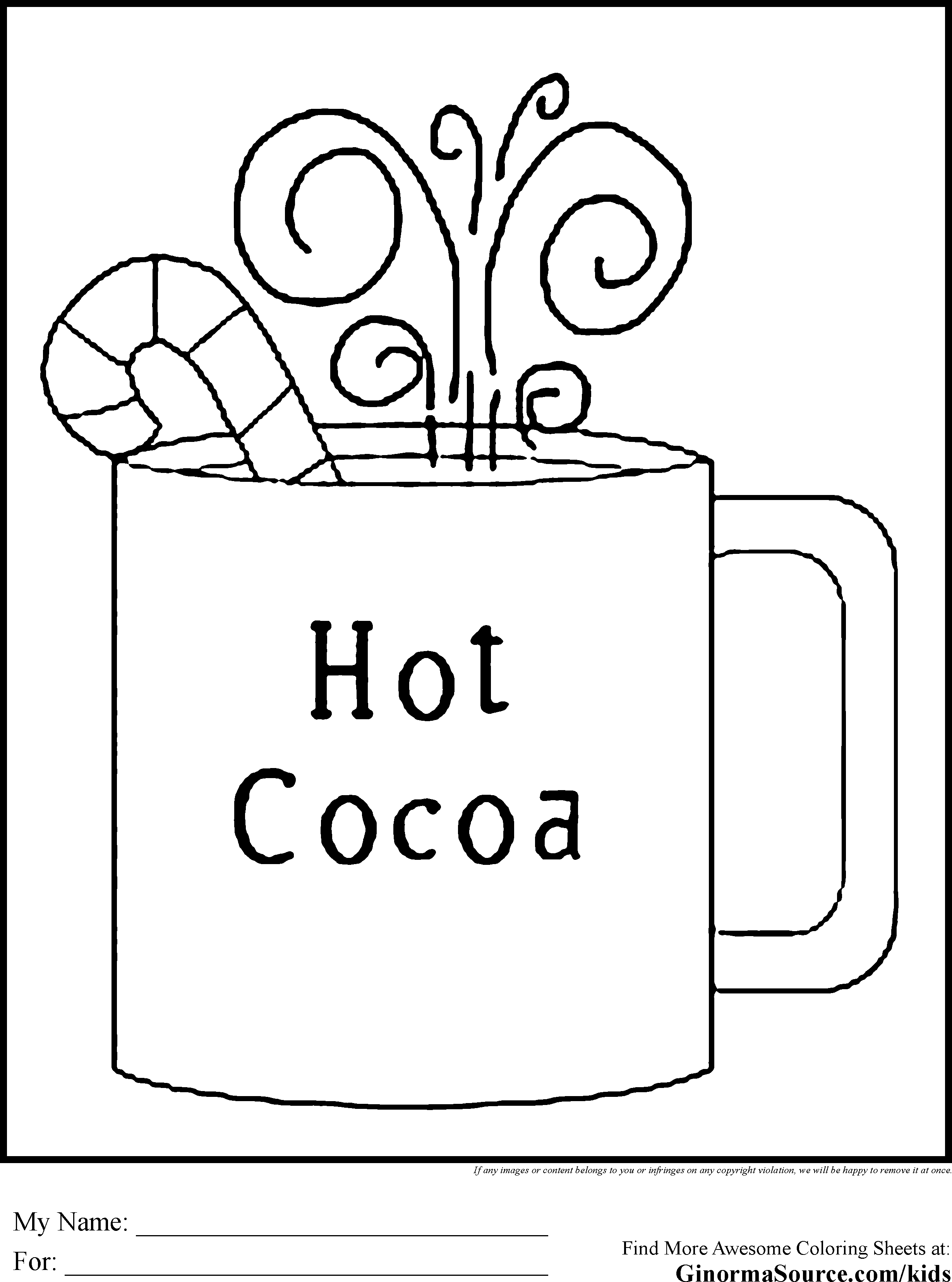Free Coloring Page Mitten