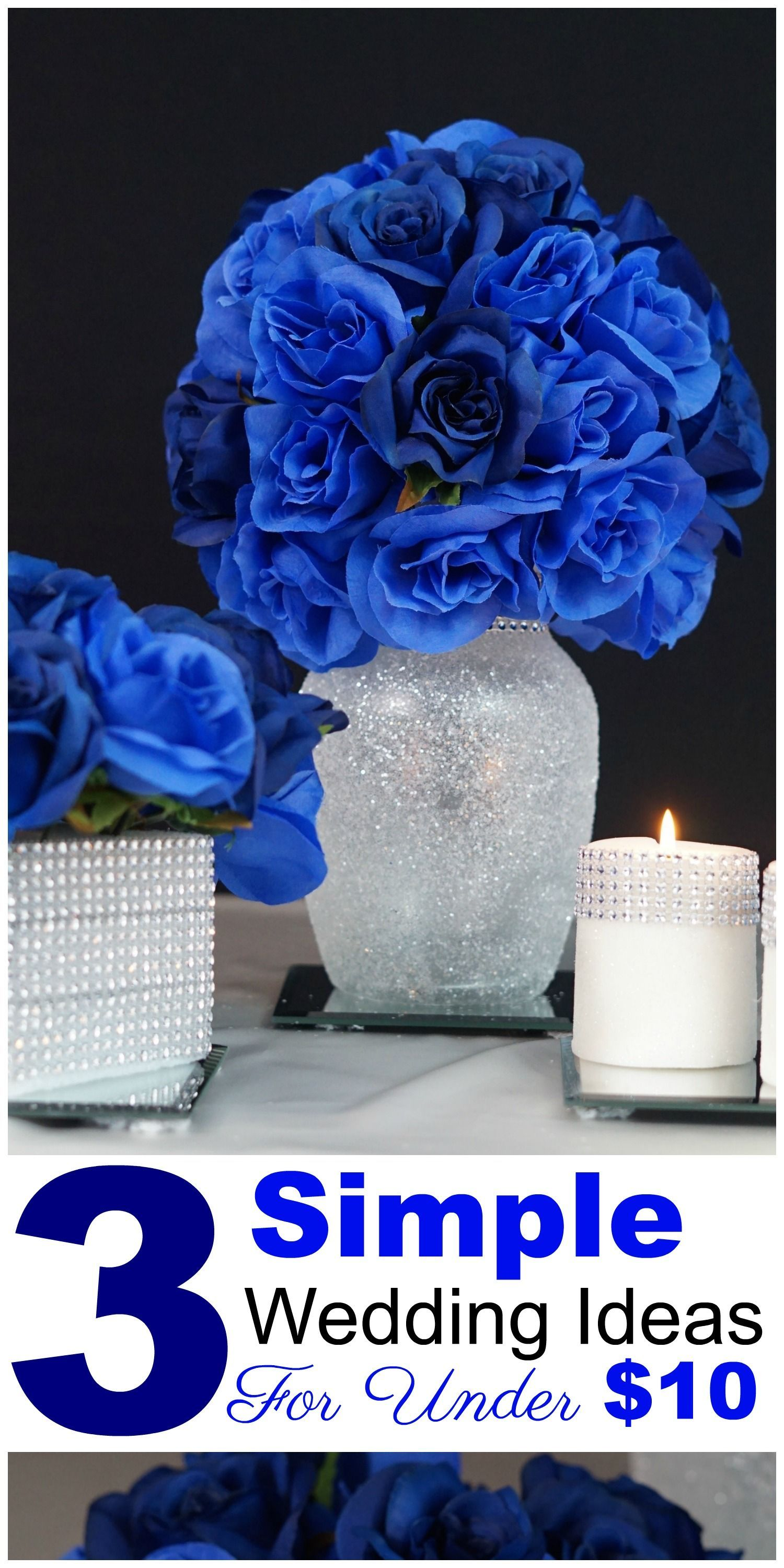 3 Royal Blue Wedding Or Quincenera Centerpiece Ideas For Under 10