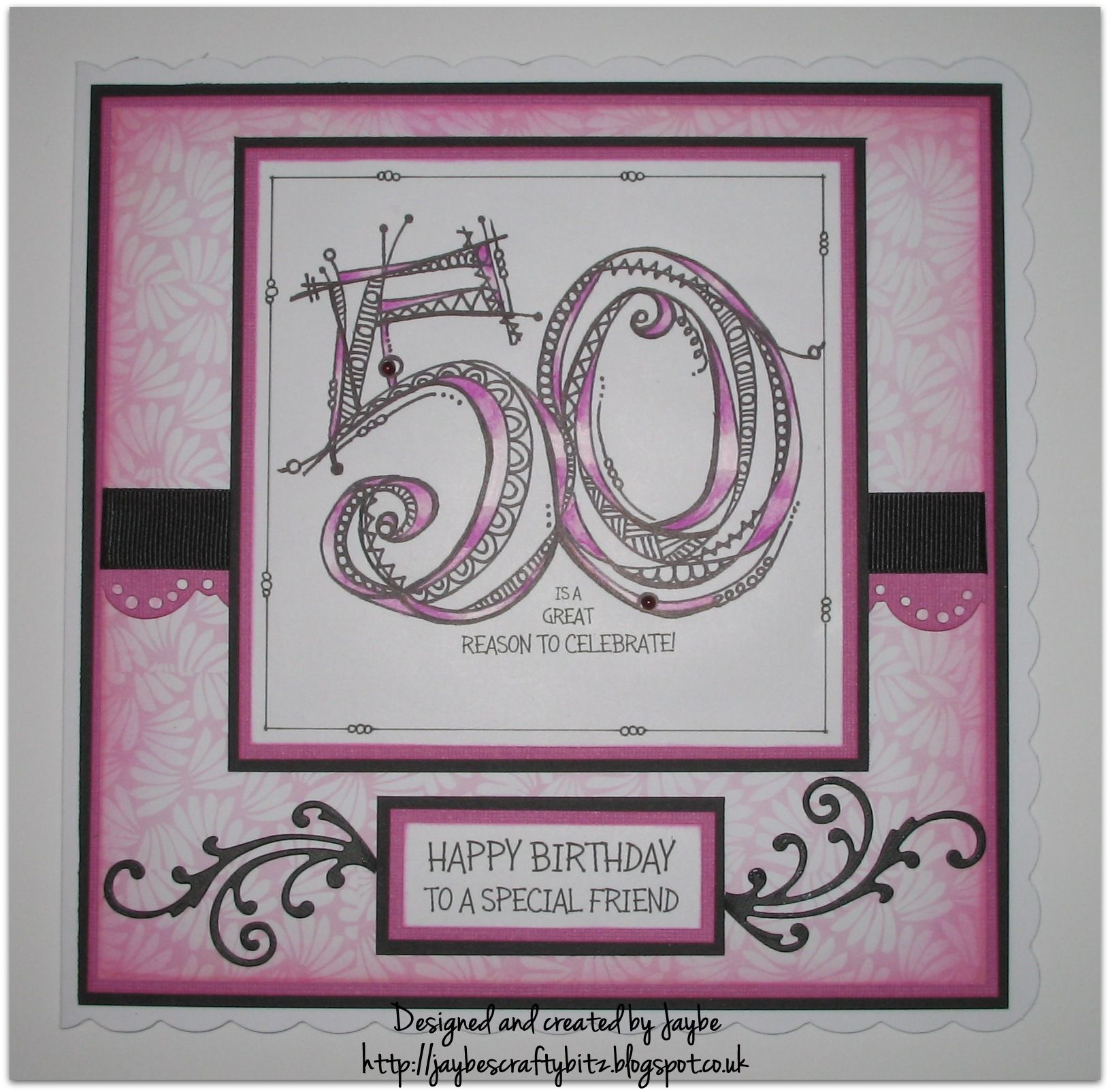 A Zenspirations 50th Birthday Card Using Joanne Fink's