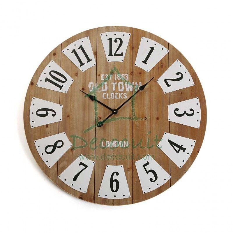 Reloj De 60 Cm De Diametro Perfecto Para Decorar Cualquier Estancia De Casa Como Salon Comedor Distribuidor Relojes De Pared Paredes De Madera Reloj Grande