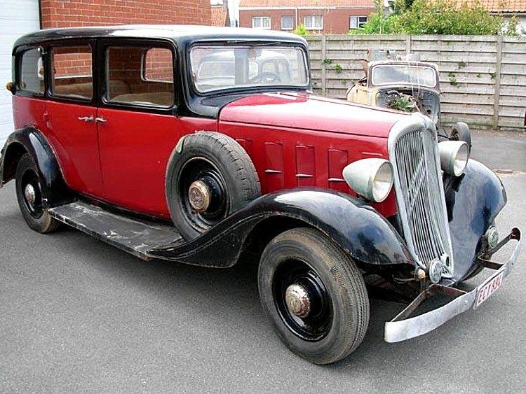 Une rosalie citroen familliale de 1933 7 places - Vieille voiture decapotable ...