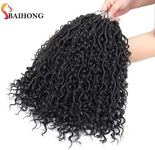 Amazing offer on (14 inch, 1B,24 Roots,80g/pack) BaiHong 6 Packs Goddess Locs Crochet Hair  Passion Twist Hair Nature Color Synthetic Crochet Braids Hair Extensions  (14 inch, 1B) online - Alllovelyclothing #passiontwistshairstylelong