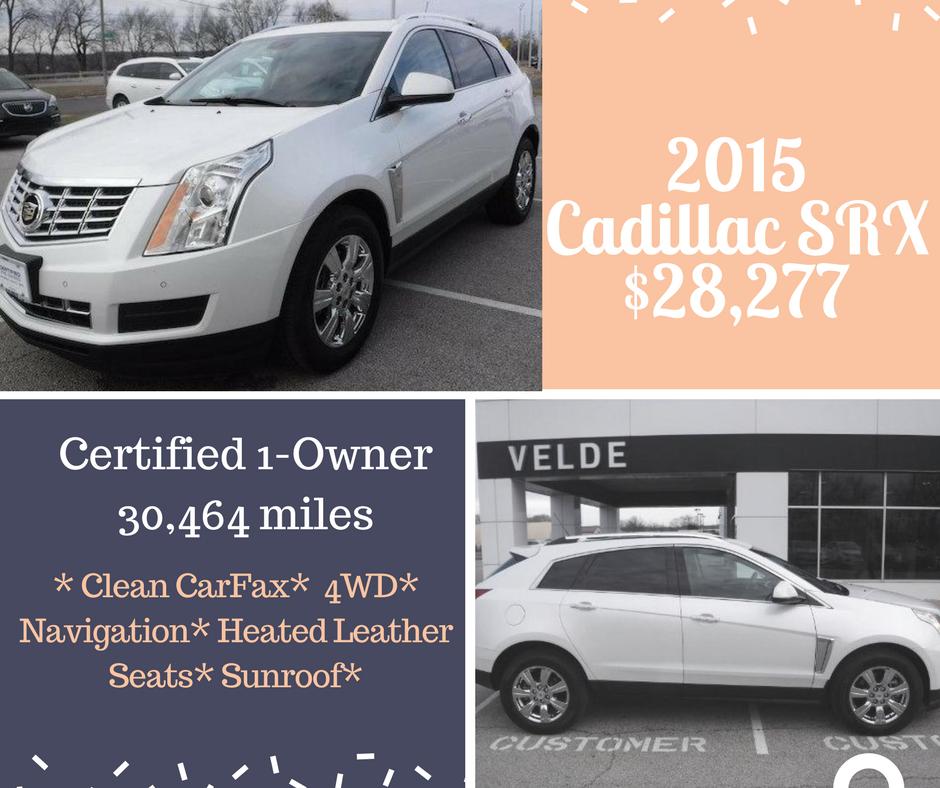2015 Cadillac SRX Luxury Call for details 309.346.1181 Velde ...