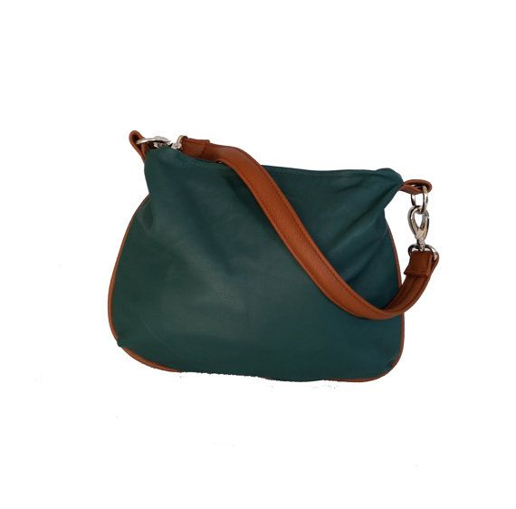4eb94608bbae Green Leather Bag, Shoulder Leather Bag Purse, Fashion Purse, Flat ...