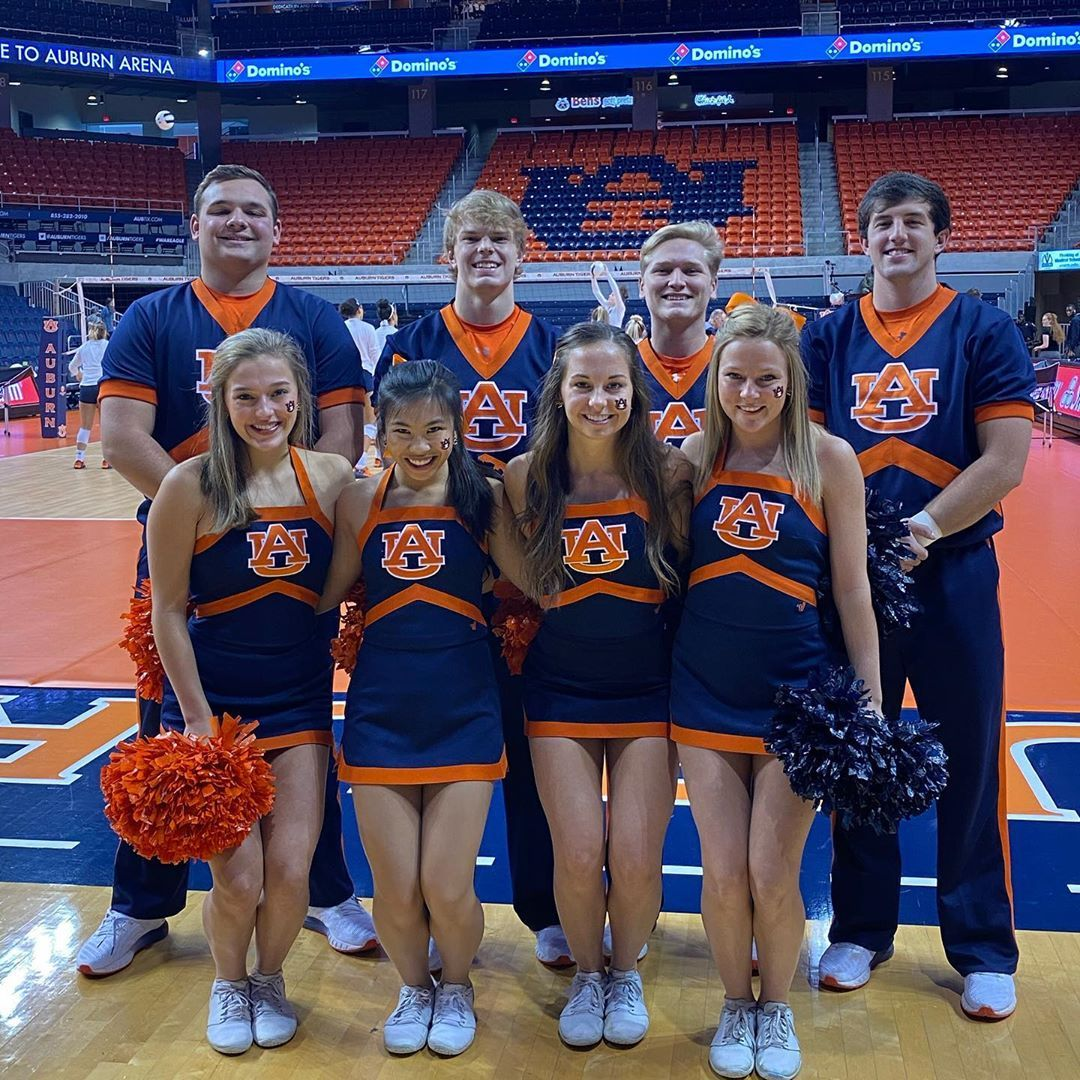 Auburn University Cheerleaders On Instagram Wrapping Up Our Weekend With Some Auburn Volleyball Wareag Auburn University Cheerleading College Cheerleading