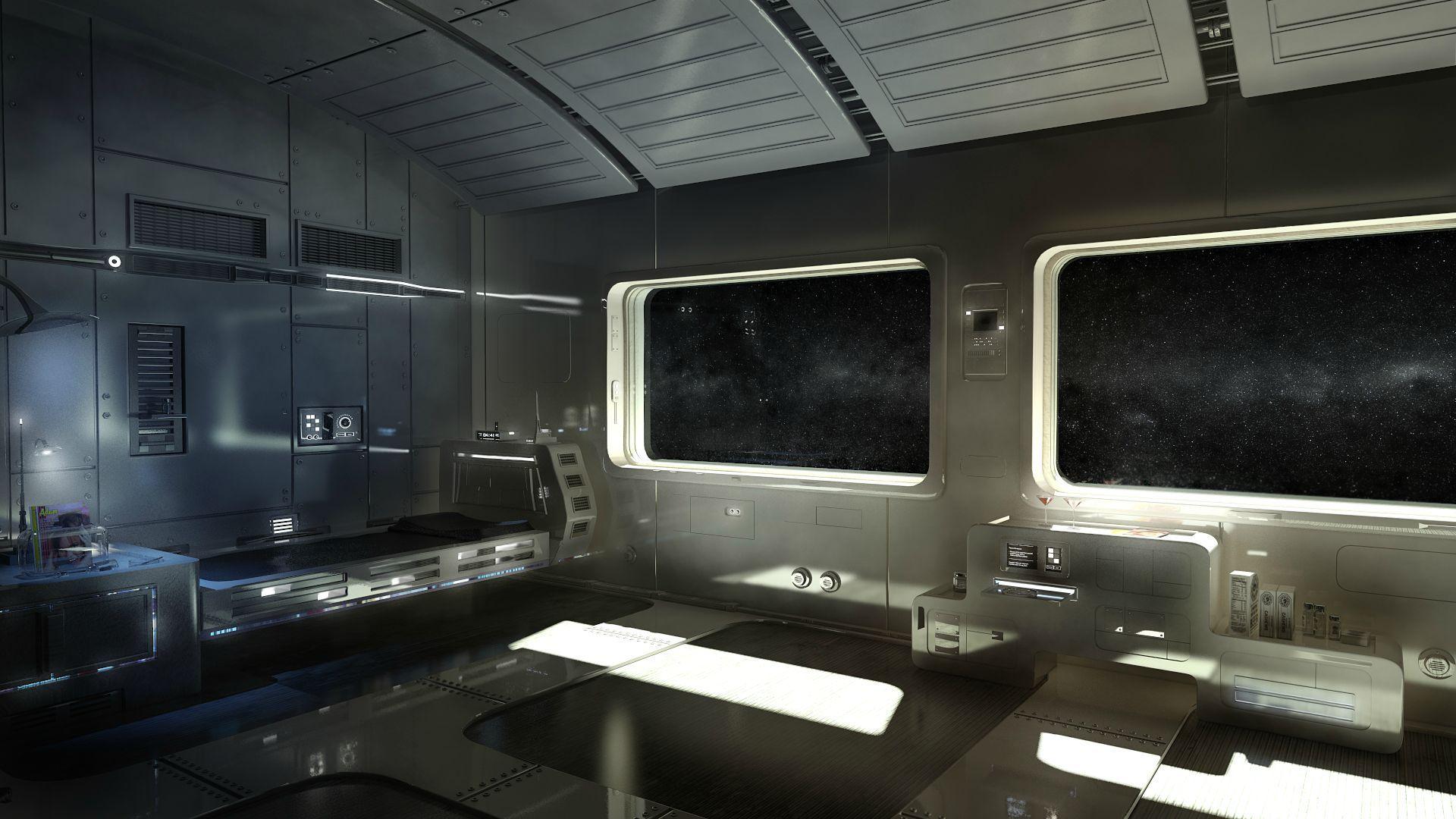 Futuristic Spaceship Bedroom Wonderful 2 On Future Spaceship Interior  Wallpaper