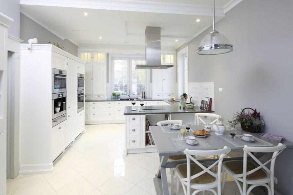 Szare Sciany W Kuchni Ciekawe Aranzacje Wnetrz White Kitchen Design Kitchen Design Closed Kitchen Design