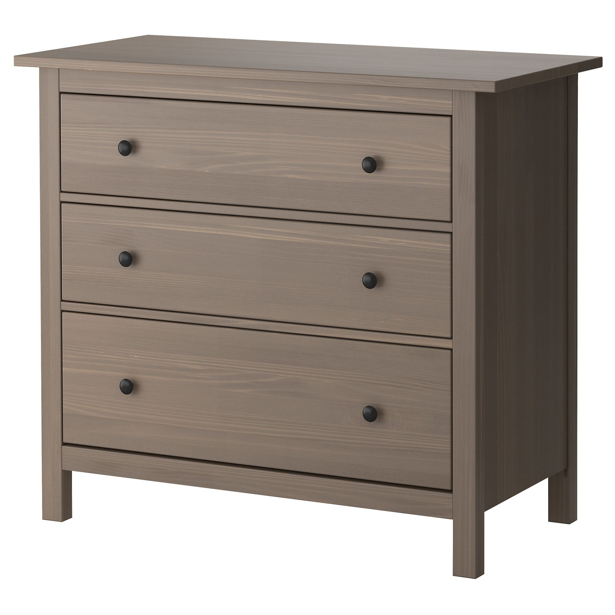 hemnes commode 3 tiroirs gris brun ikea 119 chambre montroug pinterest hemnes. Black Bedroom Furniture Sets. Home Design Ideas