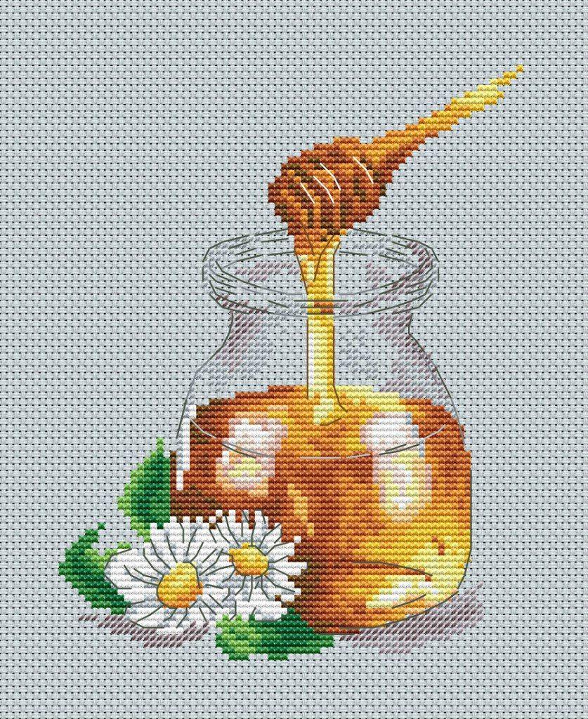 медовые соты вышить крестом картинки