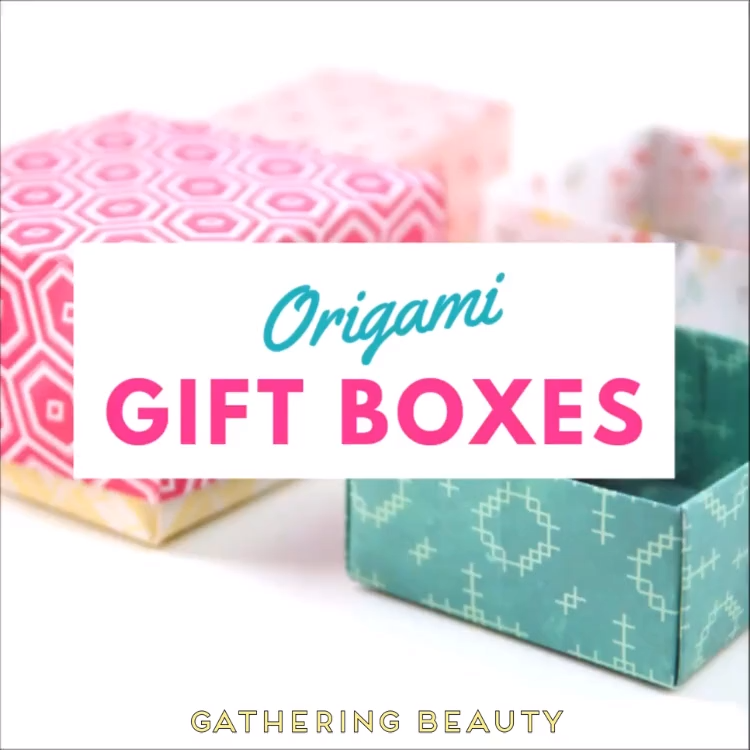 Make easy diy origami gift boxes -   19 beauty Box ideas