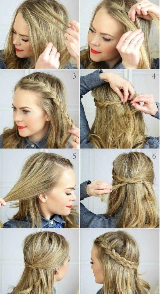 How to braided crown hair pinterest trenzas faciles - Trenzas peinados faciles ...