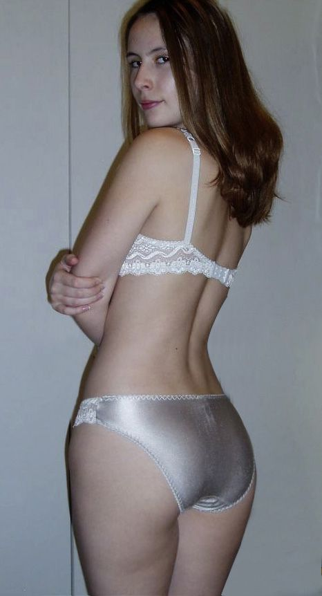 Girls wearing tight shiny panties
