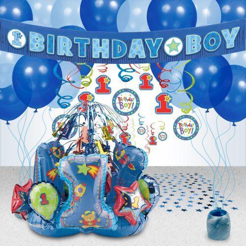 Hugs Stitches Boy 1st Birthday Party Decoration Kit Decoration