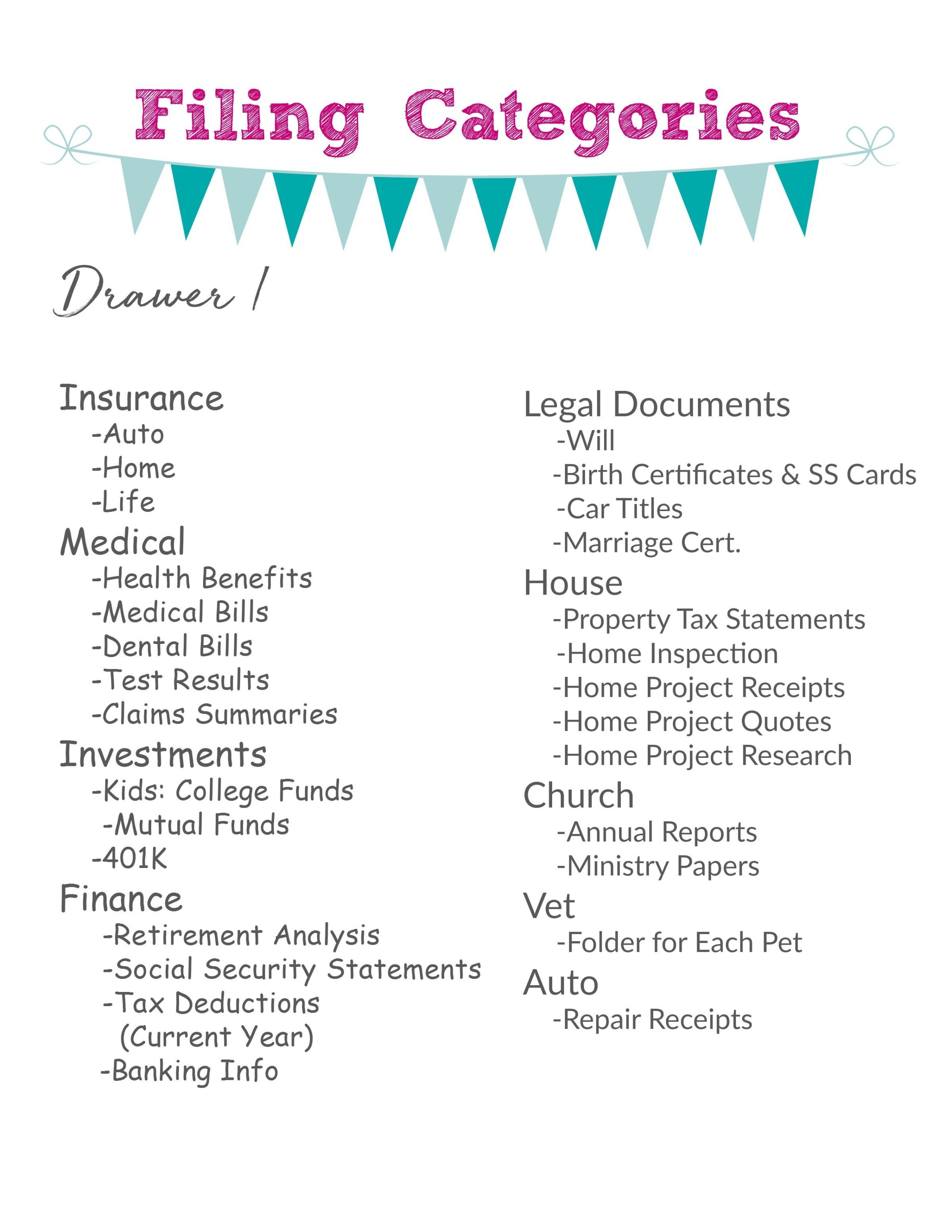 Organizing And Adding Categories To Your Filing Cabinet Soon To