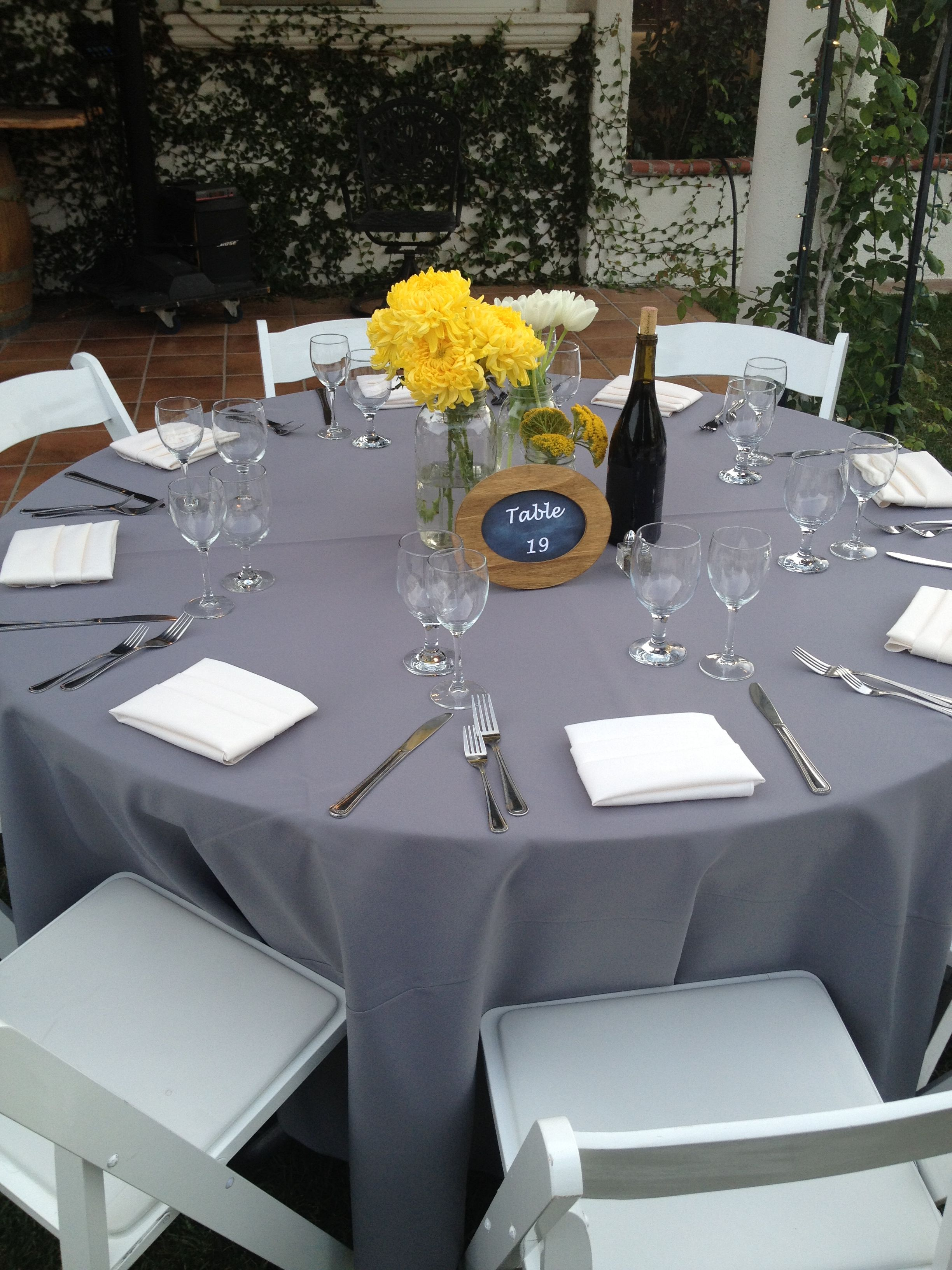 Jose Villa | Fine Art Weddings» Blog Archive » Natalie and ... |Wedding Grey Table Linens