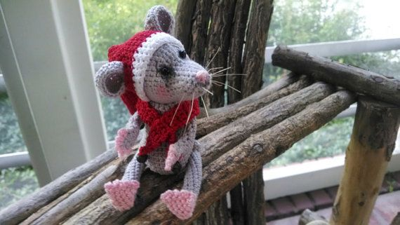 Collectible artist thread crochet mouse bear by SweetHeartThreads, $25.00