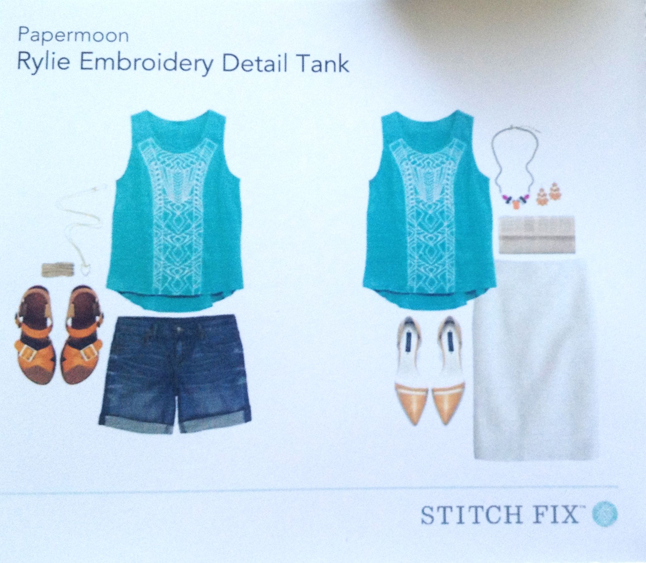 Stitch fix rylie embroidery detail tank my