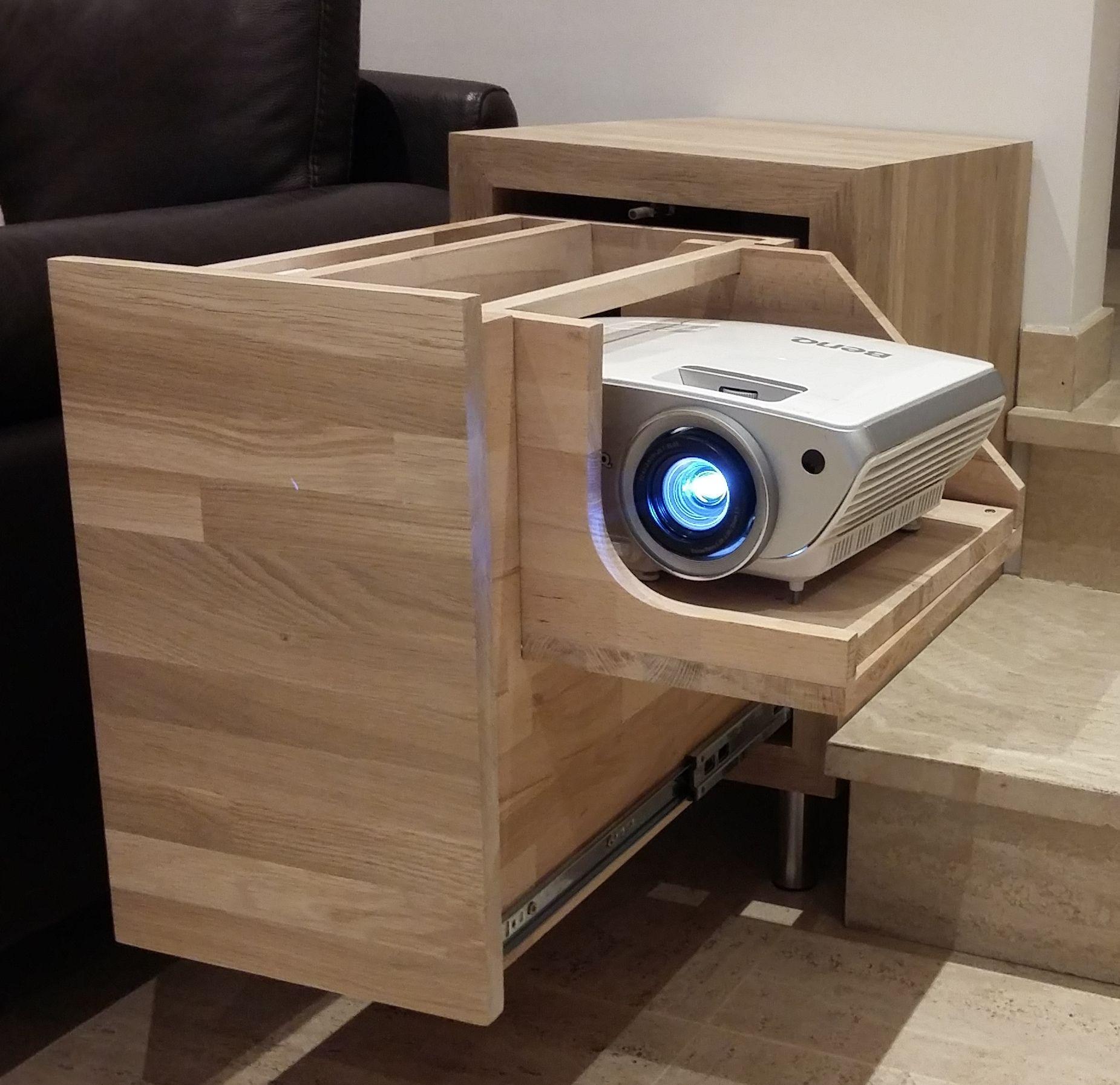videoprojecteur meuble projecteur