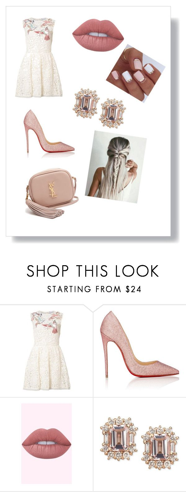 """""""Untitled #125"""" by giuggi21 ❤ liked on Polyvore featuring RED Valentino, Christian Louboutin and Yves Saint Laurent"""