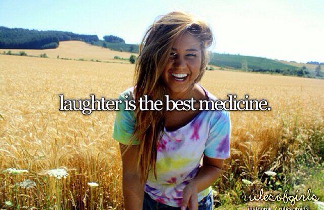 I laugh a lot:)