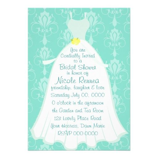 Quaint Bridal Dress Custom Invite