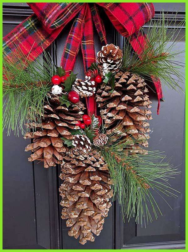 26 DIY Christmas Pine Cone Crafts To Add Extra Charm To Holidays Pine Cone Christmas Front Door Decoration Informations About 26 DIY Christmas Pine Cone Crafts To Add Ext...