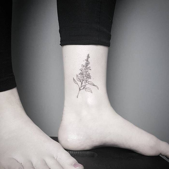 16 mesmerizing lilac tattoo designs to celebrate spring lilacs rh pinterest com lilac tattoo images lilac tattoo meaning